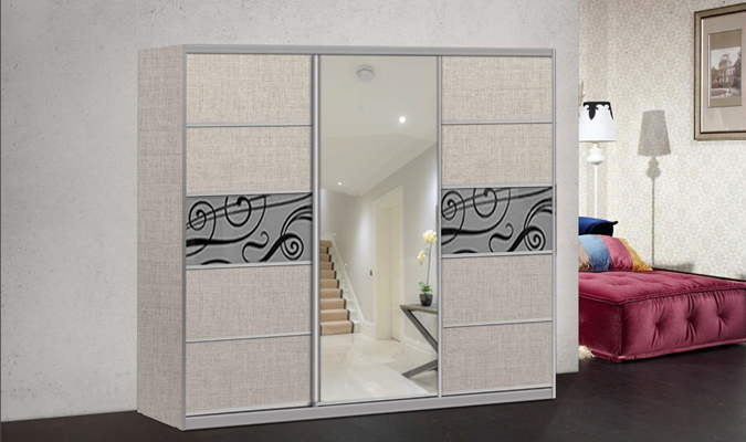 ארון הזזה קרלו 3 דלתות עם מראה
