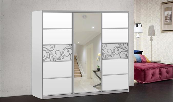 ארון הזזה ולנטיונו 3 דלתות עם מראה