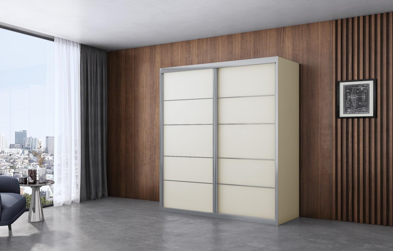 ארון הזזה ארז 2 דלתות