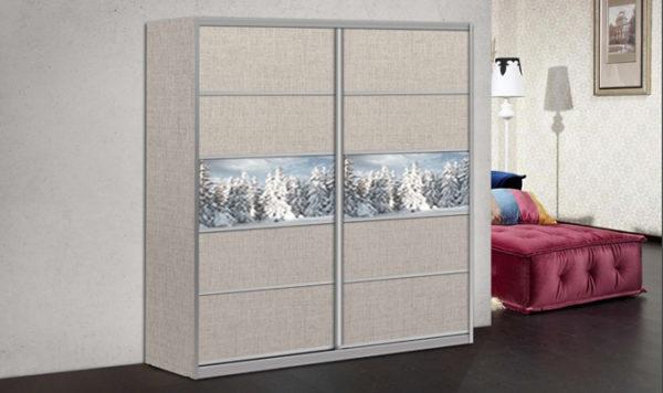ארון הזזה שלג 2 דלתות