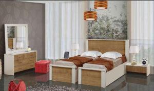 חדר שינה מיטה יהודית טרויה