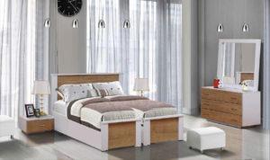 חדר שינה מיטה יהודית אורן