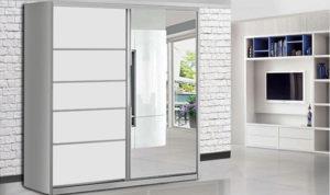 ארון הזזה ארז 2 דלתות עם מראה