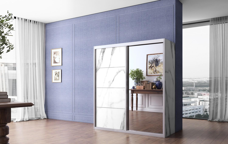 ארון הזזה 2 דלתות עם מראה