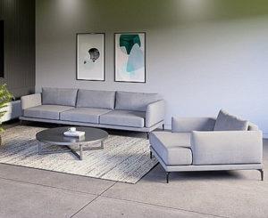 סלון תלת מושבית דגם גאיה