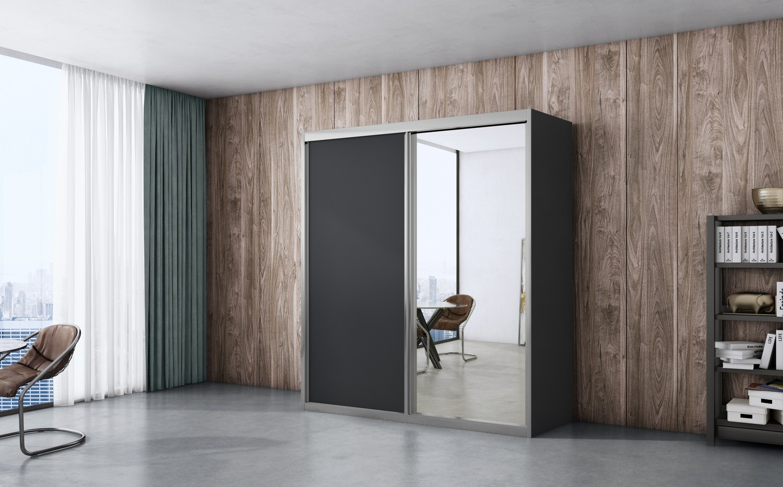 ארון הזזה ארז לייט מראה 2 דלתות